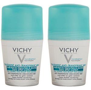 Vichy 48-hodinový guľôčkový antiperspirant proti bielym a žltým škvrnám 2 x 50 ml