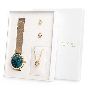 A-NIS Set hodinek, náhrdelníku a náušnic AS100-22