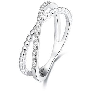 Beneto Dvojitý prsteň zo striebra AGG145
