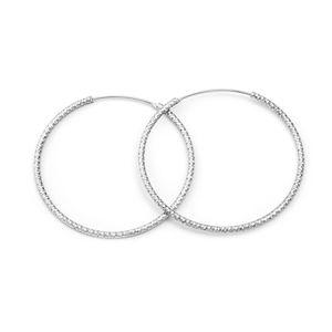 Beneto Moderné kruhové náušnice zo striebra AGUC787 / N