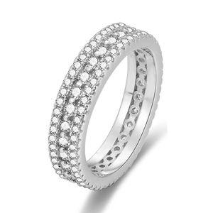 Beneto Strieborný prsteň so zirkónmi AGG325