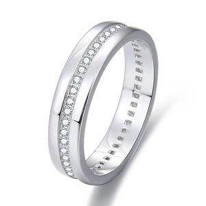 Beneto Strieborný prsteň so zirkónmi AGG330
