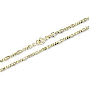 Brilio Jedinečný zlatý náramok 18 cm 261 115 00004