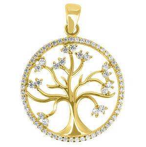 Brilio Krásny prívesok zo žltého zlata Strom života PENT014_AU_Y