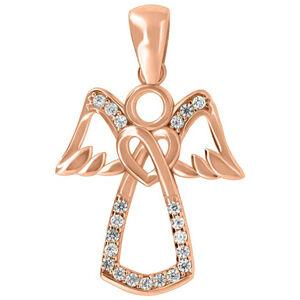 Brilio Nežný prívesok z ružového zlata Anjel PENT113_AU_R