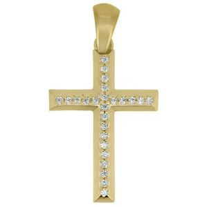 Brilio Prívesok krížik zo žltého zlata CRS177_AU_Y