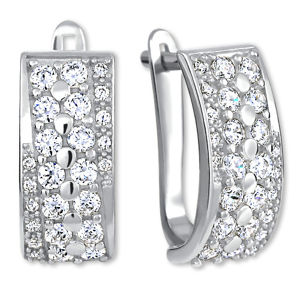 Brilio Silver Luxusné strieborné náušnice 436 001 00500 04