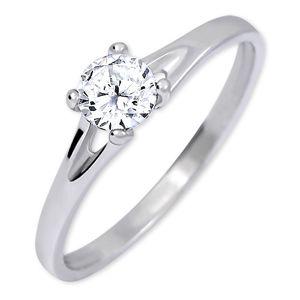Brilio Silver Strieborný zásnubný prsteň s kryštálom 426 001 00508 04