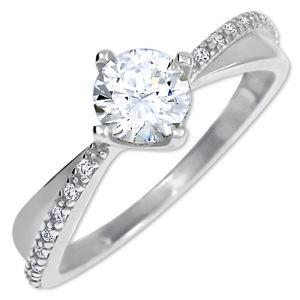Brilio Zlatý dámsky prsteň s kryštálmi 229 001 00806 07