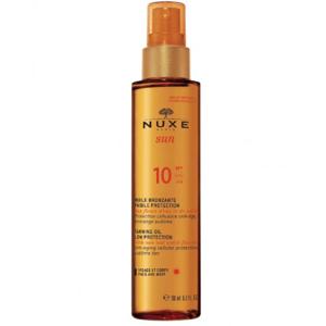 Nuxe Bronzujúce olej na opaľovanie na tvár a telo Sun SPF 10 (Tanning Oil Low Protection) 150 ml
