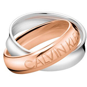 Calvin Klein Bicolor oceľový prsteň Double KJDFPR2001