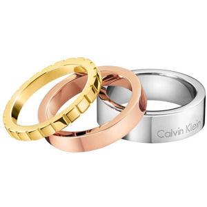 Calvin Klein Tricolor prsteň 3 v 1 Wonder KJ5MDR3001