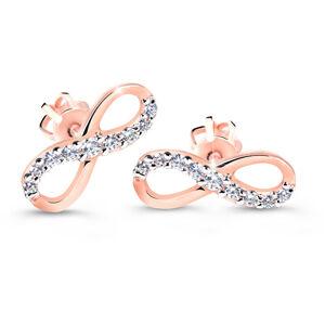 Cutie Diamonds Elegantné náušnice z ružového zlata s briliantmi v tvare nekonečna DZ60149-30-00-X-4