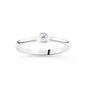 Cutie Jewellery Jemný trblietavý prsteň z bieleho zlata Z8006-10-X-2