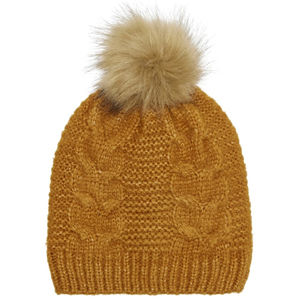 ONLY Dámska čiapka ONLKAREN CABLE KNIT HAT Golden Oak