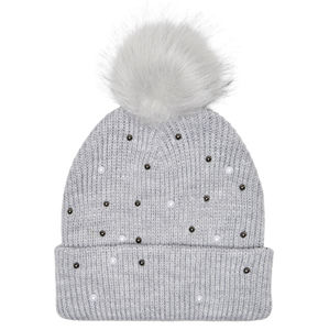 ONLY Dámska čiapka ONLTANYA KNIT PEARL HAT CC Light Grey Melange