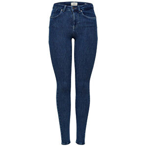 ONLY Dámska džínsy ONLPOWER MID PUSH UP SK JEA REA3223 Noosa Dark Blue Denim