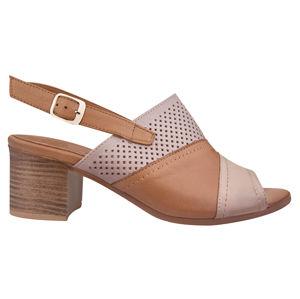Venüs Dámske kožené sandále 1857212-Bej Green