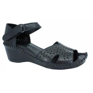 Venüs Dámske kožené sandále 20793061 Black