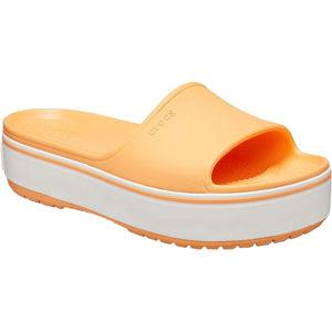 Crocs Dámske šľapky Crocband Platform Slide Cantaloupe / White 205631-82S
