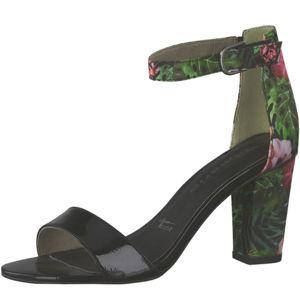 Tamaris Dámske sandále 1-1-28315-22-043 Blk Pat/Flower