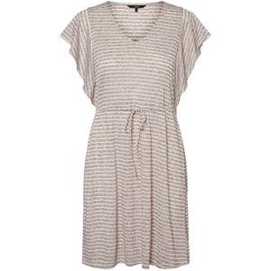 Vero Moda Dámske šaty VMRAKEL 10230826 Birch Stripe s : BROWNIE STRIPES