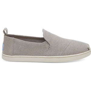 TOMS Dámske Slip-on Drizzle Grey Metallic Jute Deconstructed Alpargata
