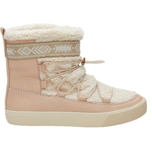 TOMS Dámske snehule Dark Blush Leather/Faux Shearling