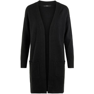 Vero Moda Dámsky kardigan VMBLAKELY IVA LS OPEN CARDIGAN COLOR Black Solid