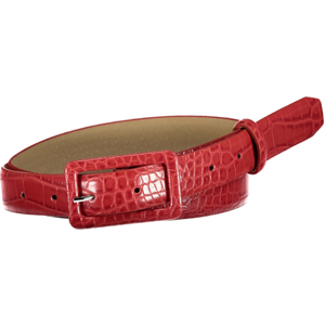 Pieces Dámsky opasok PCHEATHER JEANS BELT Racing Red