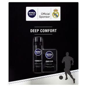 Nivea Men Deep Comfort pre mužov voda po holenie 100 ml + pena na holenie 200 ml darčeková sada