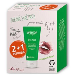 Weleda Darčeková sada univerzálneho výživného krému Skin Food 3 x 75 ml
