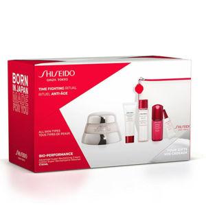 Shiseido Bio Performance pleťový krém 50 ml + čistiaca pena 15 ml + pleťová voda 30 ml + pleťové sérum 5 ml + Protivráskový očný krém 3 ml + kozmetická taška 1 ks darčeková sada