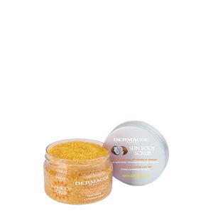 Dermacol Tělo vý peeling s vôňou bielej broskyne Sun ( Body Scrub) 200 g