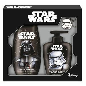 Disney STAR WARS Gift sada Classic (sprchový gel + tekuté mýdlo + klíčenka s LED světlem)