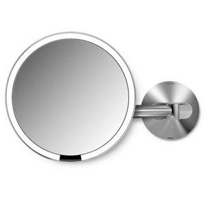 Simplehuman Dobíjacie kozmetické zrkadlo na stenu Sensor s LED osvetlením, 5x zväčšenie