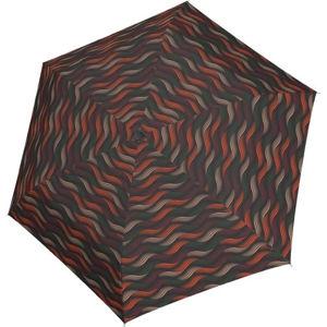 Doppler Dámsky skladací mechanický dáždnik Fiber Havanna gravity 722365GR03