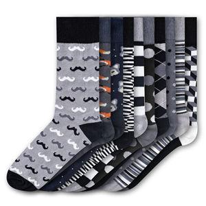 Funky Steps 10 PACK - pánske ponožky FSB269