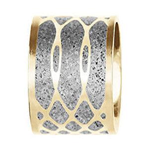 Gravelli Oceľový prívesok s betónom zlatá / šedá Merge GJPWYGG105UN