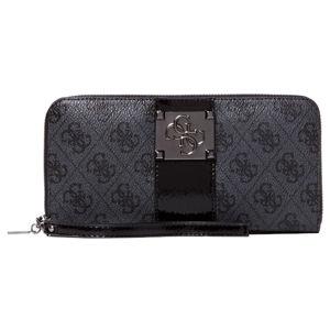 Guess Dámska peňaženka Logo City Print Wallet SWSM74 76460 coal