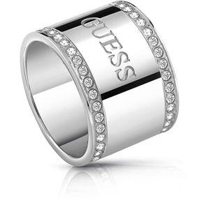 Guess Masívny prsteň s kryštálmi UBR28020