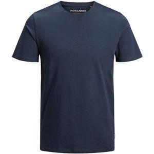 Jack&Jones Pánske tričko JJEORGANIC BASIC TEE 12156101 Navy Blaze r SLIM