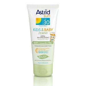 Astrid Jemný krém na opaľovanie pre deti OF 30 Sun Kids & Baby 100% minerálna filter 100 ml
