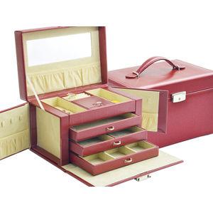 JK Box Honosná bordó šperkovnica SP-790 / A10