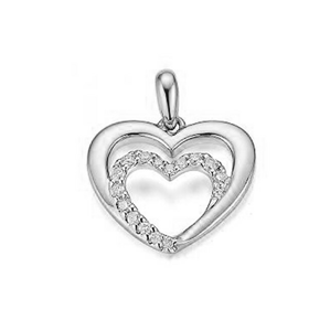 JVD Zamilovaný strieborný prívesok Srdce sa zirkónmi SVLP0688XH2BI00