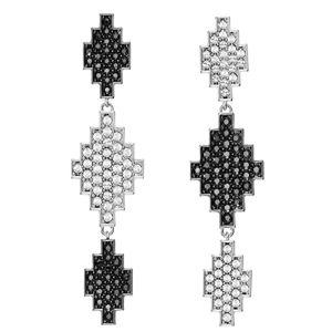 Karl Lagerfeld Luxusné náušnice s kryštálmi Argentína Long Pendant 5483652