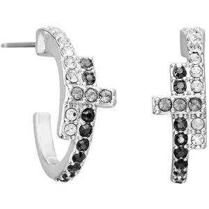 Karl Lagerfeld Trblietavé náušnice s krížikom huggie 5512175