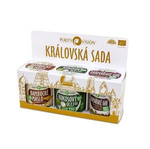 Purity Vision Kráľovská sada Bambucké maslo Bio 100 ml + Kokosový olej Bio 120 ml + Farmárske Ghí 120 ml darčeková sada