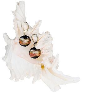 Lampglas Tajomné náušnice Mystery z perál Lampglas s 24 karátovým zlatom EP18