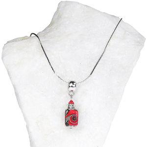 Lampglas Vášnivý dámsky náhrdelník Scarlet Passion s perlou Lampglas NSA16